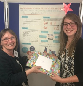 Kerina Jones, IJPDS Editor in Chief & winner of the ADR2018 best poster prize, Lauren North